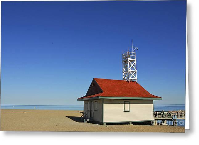 Lake Ontario Greeting Cards - Leuty Lifeguard Station in Toronto Greeting Card by Elena Elisseeva