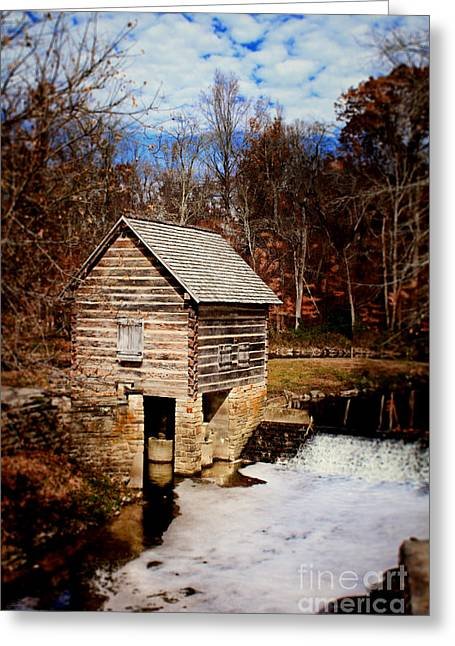 Levi Greeting Cards - Levi Jackson Park Water Mill Greeting Card by Stephanie Frey