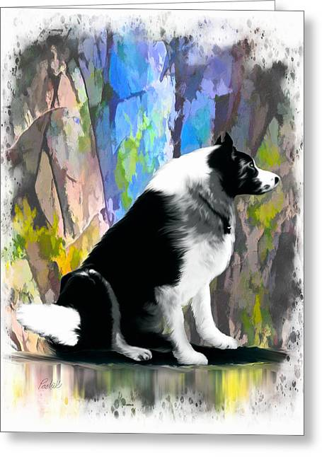 Levi Mixed Media Greeting Cards - Levi - Unconditional Love Greeting Card by Pachek
