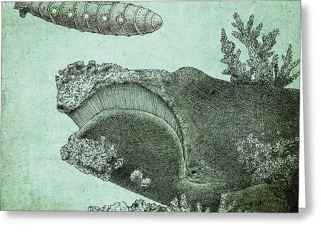 Pen And Ink Drawings Greeting Cards - Leviathan Greeting Card by Eric Fan