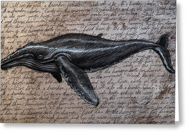 Humpback Greeting Cards - Leviathan Greeting Card by Mark Zelmer