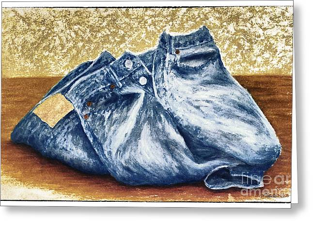 Levi Pastels Greeting Cards - Levis Greeting Card by Deb Mitchell