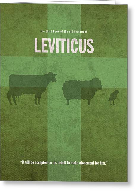 Jew Greeting Cards - Leviticus Books of the Bible Series Old Testament Minimal Poster Art Number 3 Greeting Card by Design Turnpike