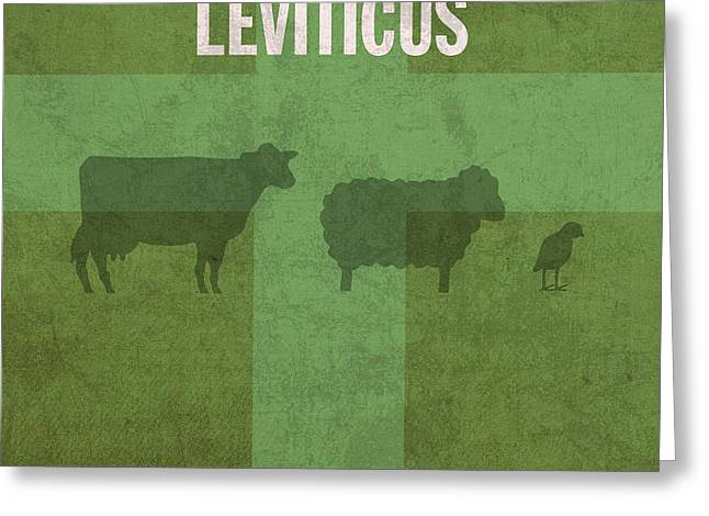 Leviticus Books of the Bible Series Old Testament Minimal Poster Art Number 3 Greeting Card by Design Turnpike
