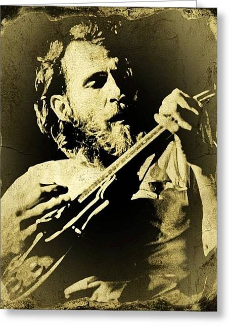 Levon Tintype Greeting Card by Larry Lamb