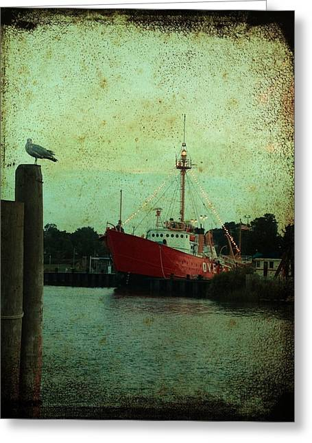 Cellphone Greeting Cards - Lewes - Overfalls Lightship 1 Greeting Card by Richard Reeve