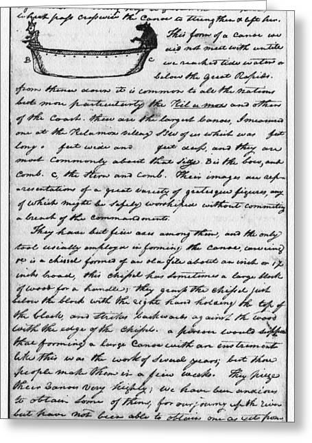 Lewis & Clark Canoe, 1806 Greeting Card by Granger