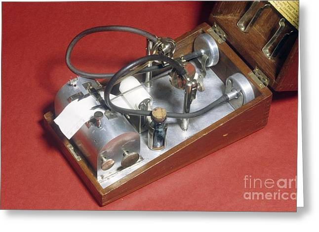 Diagnose Greeting Cards - Lewis-mckenzie Polygraph, Circa 1900 Greeting Card by Science Photo Library