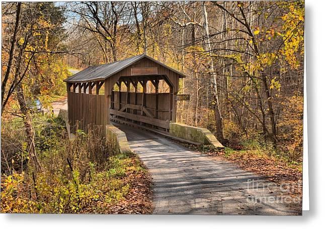 Lewisburg Greeting Cards - Lewisburg West Virginia Covered Bridge Greeting Card by Adam Jewell