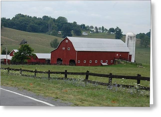 Lewisburg Greeting Cards - Lewisburg WVA farm Greeting Card by Pamela Hughart