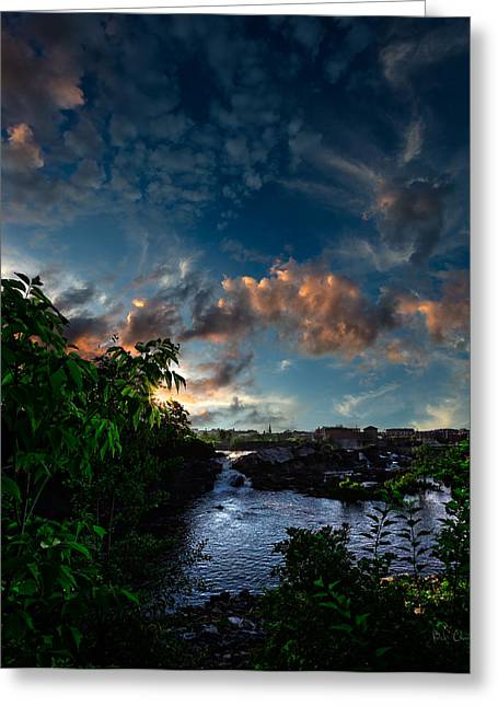 Androscoggin Greeting Cards - Lewiston In July Greeting Card by Bob Orsillo