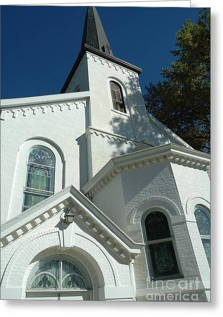 Lewistown First Presbyterian Church  Greeting Card by Bob Fromm