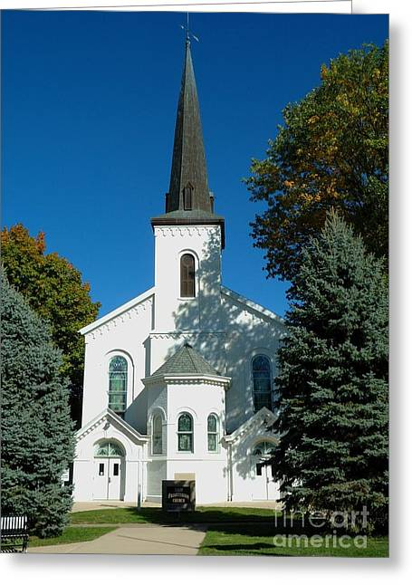Lewistown Greeting Cards - Lewistown First Presbyterian Church I Greeting Card by Bob Fromm