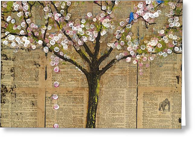Lexicon Tree of Life 3 Greeting Card by Blenda Studio