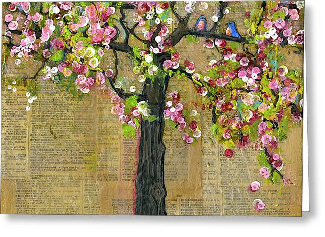 Lexicon Tree of Life 4 Greeting Card by Blenda Studio