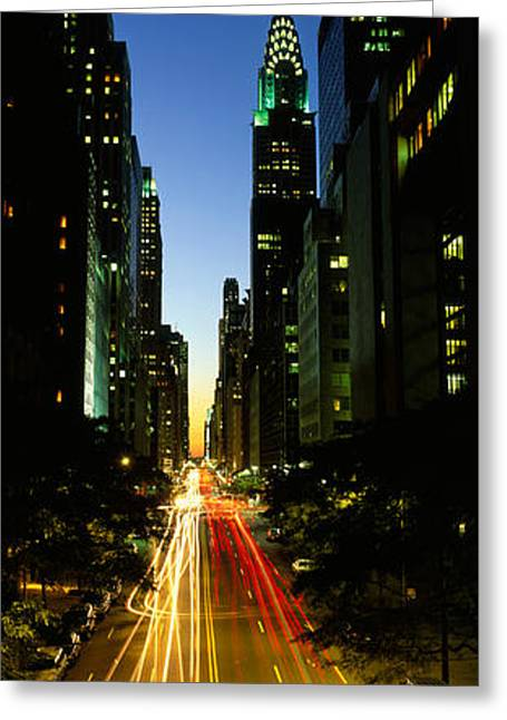 High-rise Greeting Cards - Lexington Avenue, Cityscape, Nyc, New Greeting Card by Panoramic Images