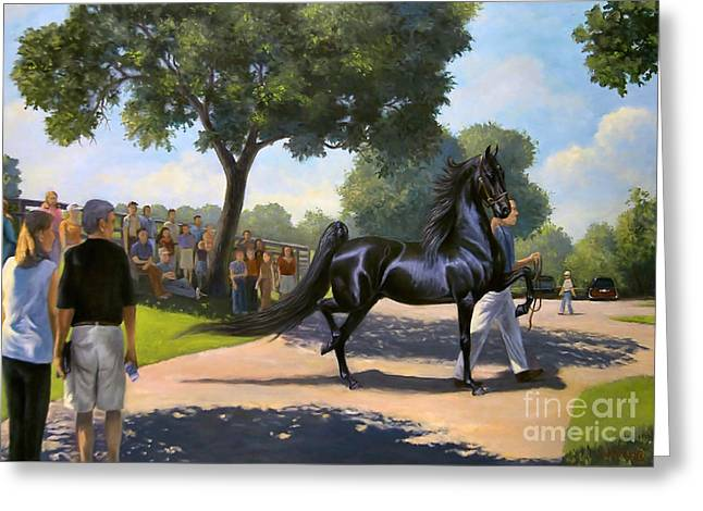 Jeanne Newton Schoborg Greeting Cards - Lexington Stallion Tour Greeting Card by Jeanne Newton Schoborg