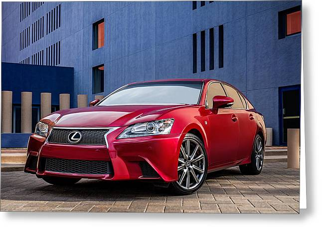 Auto Greeting Cards - Lexus GS350 F Sport Greeting Card by Douglas Pittman