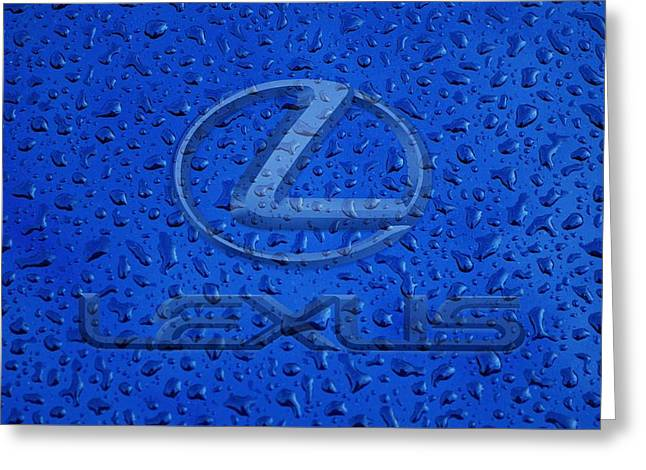Lexus Rainy Window Visual Art Greeting Card by Movie Poster Prints