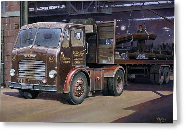 Lorries Greeting Cards - Leyland Beaver artic. Greeting Card by Mike  Jeffries