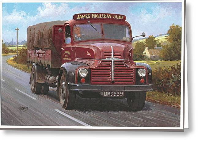 Comet Greeting Cards - Leyland Comet 1948 Greeting Card by Mike  Jeffries