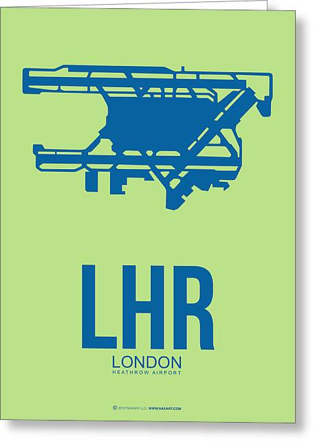 European Cities Greeting Cards - LHR London Airport Poster 2 Greeting Card by Naxart Studio