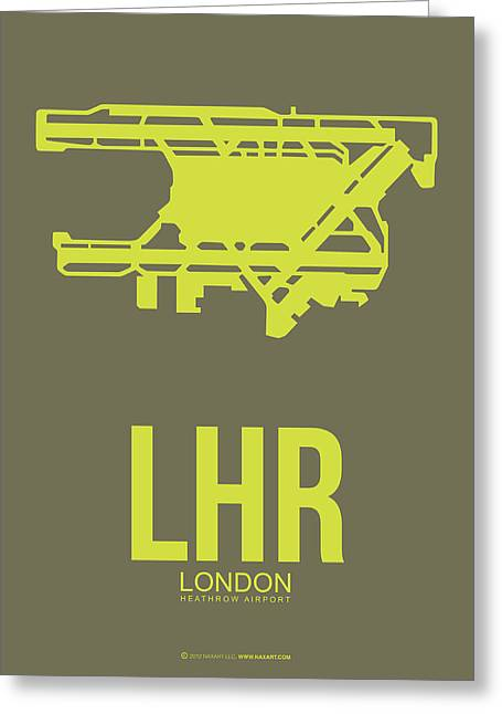 European City Greeting Cards - LHR London Airport Poster 3 Greeting Card by Naxart Studio