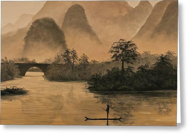 Li River China Greeting Card by Darice Machel McGuire