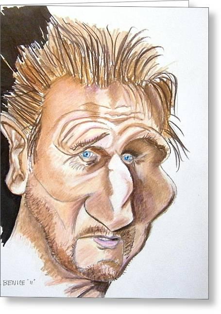 Liam Neeson Greeting Card by Chris Benice