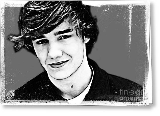Payne Greeting Cards - Liam Payne Greeting Card by The DigArtisT