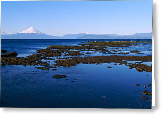 Snow Capped Greeting Cards - Lianquihue Lake Osorno Chile Greeting Card by Panoramic Images