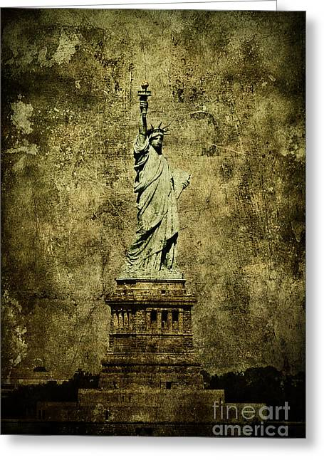 Liberty Island Greeting Cards - Liberation Greeting Card by Andrew Paranavitana