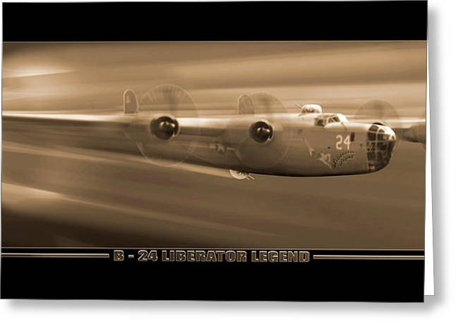 Air Plane Greeting Cards - Liberator Legend Greeting Card by Mike McGlothlen