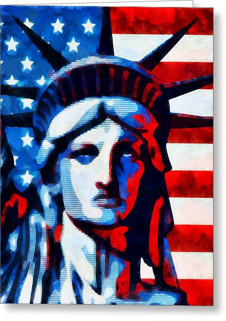 Liberty 2 Greeting Card by Angelina Vick