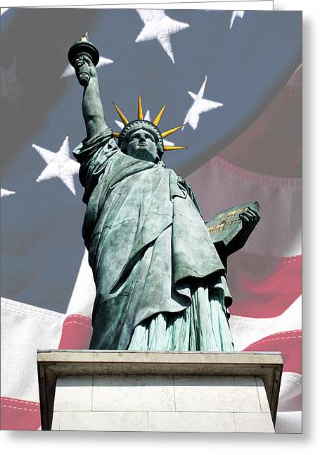 Grenelle Greeting Cards - Liberty 2 Greeting Card by Hazardous Coffee