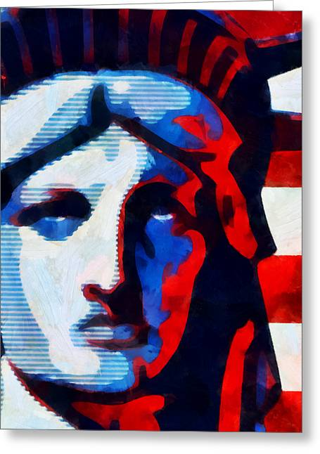Liberty 3 Greeting Card by Angelina Vick