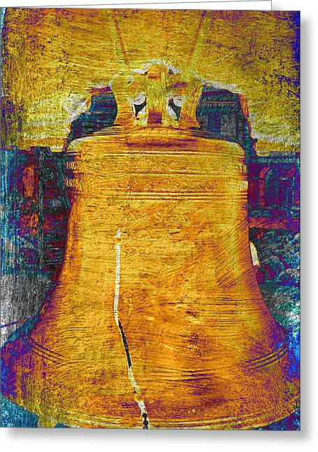 4th July Photographs Greeting Cards - Liberty Bell 2.1 Greeting Card by Stephen Stookey