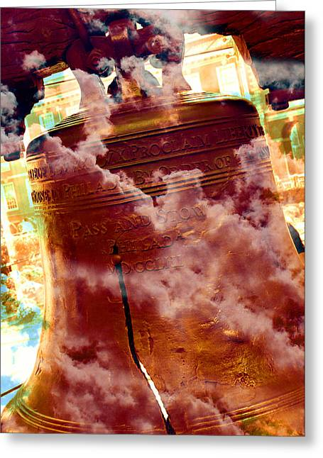 4th July Greeting Cards - Liberty Bell 3.1 Greeting Card by Stephen Stookey