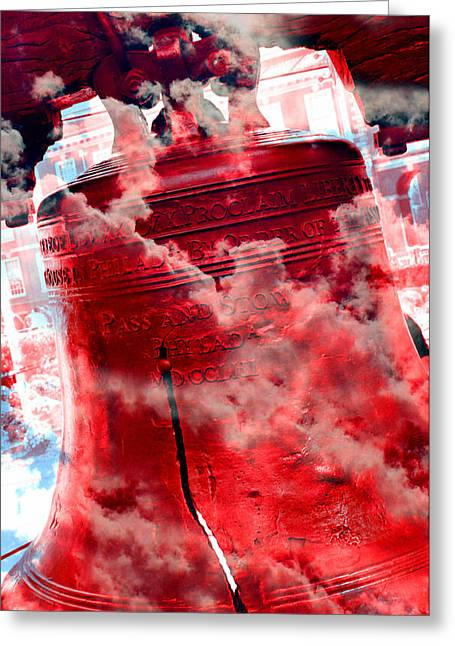 4th July Greeting Cards - Liberty Bell 3.5 Greeting Card by Stephen Stookey