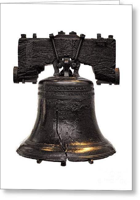 Philadelphia History Greeting Cards - Liberty Bell Greeting Card by Olivier Le Queinec