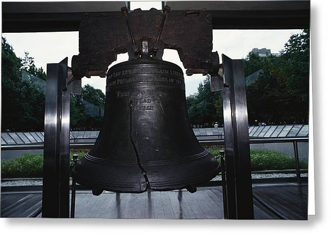 Patriotic Scenes Greeting Cards - Liberty Bell Philadelphia Pa Greeting Card by Panoramic Images