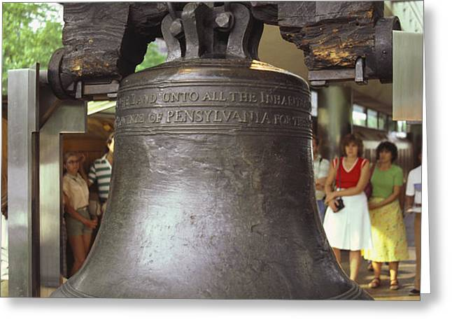 Liberty Bell Greeting Card by Van D. Bucher