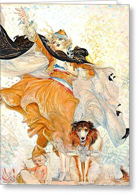 Fund Raising Greeting Cards - Liberty Bond Ad 1917 Greeting Card by Padre Art