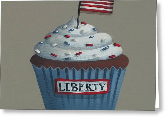 Best Sellers -  - Catherine White Greeting Cards - Liberty Cupcake Greeting Card by Catherine Holman