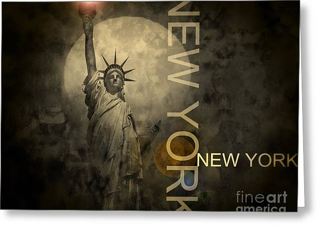 Title : Liberty Greeting Cards - Liberty Greeting Card by Edmund Nagele