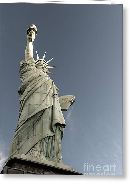 Things Light Greeting Cards - Liberty Enlightening the World Greeting Card by Charles Dobbs
