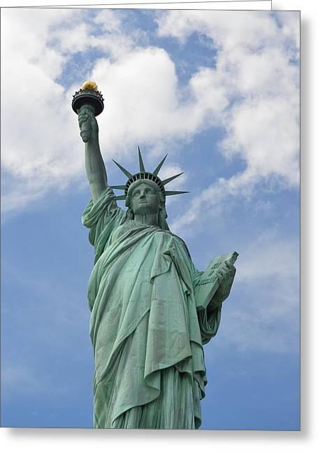 Goddess Of Liberty Greeting Cards - Liberty Enlightening the World Greeting Card by Sonali Gangane