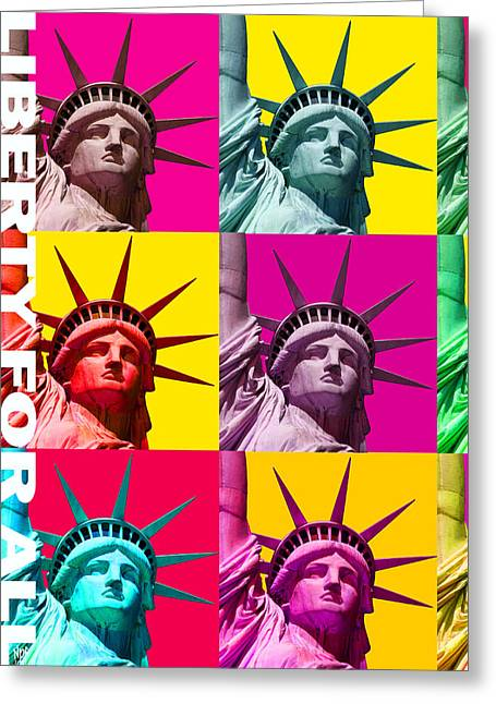 Liberty For All Greeting Card by Neil Finnemore