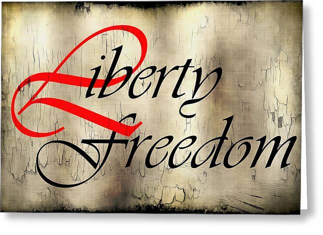 Slavery Digital Art Greeting Cards - Liberty Freedom Greeting Card by Daniel Hagerman