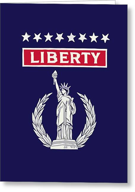 Liberty Greeting Cards - Liberty Greeting Card by God and Country Prints